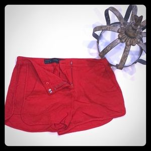 Zara Basic Red Shorts XS